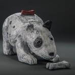 Terrier Jar With 2 Bones